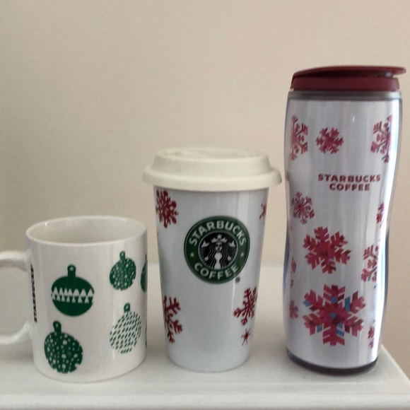 Starbucks Other - Bundle of 3 Starbucks holiday cups